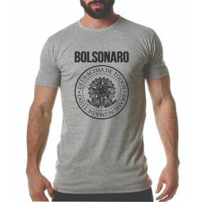 Camiseta Jair Bolsonaro Brasão Brasil Deus Acima Tudo Todos
