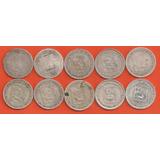 Coleccion De Monedas De 0,25 De Plata, 10 Pz.