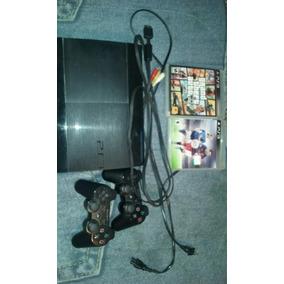Play Station 3 Con Controles Y Juegos
