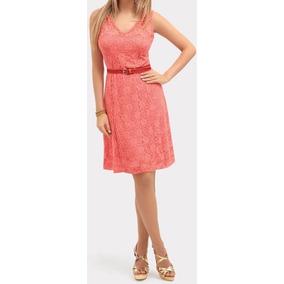 Vestido Renda Casual Básico Decote V Soltinho Corte Ret Vr66