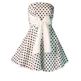 Vestido Anos 60 Bolinhas Vintage Retrô Tomara Que Caia