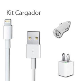 Kit 4 En 1 Cargador Iphone 5, 5s, 6, 6s, Carga Rápida