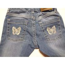 Jeans Pantalon Nena Marca Mimo Bordado