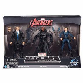 Bonecos Legends Marvel Maria Hill + Nick Fury + Agent Carter