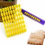 Sello Estampador Letras + Números - 5mm - Galletitas, Etc