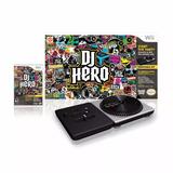 Nintendo Wii Dj Hero Com Plataforma Giratória Pick Up + Jogo