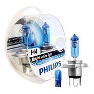 Lamparas Philips Crystal Vision Ultra H4 Luz Blanca 4300k