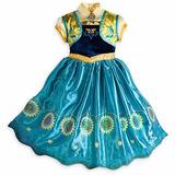 Vestido Fantasia Infantil Criança Filme Frozen Elsa Anna