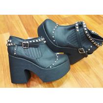Zapato Alto Plataforma Con Tachas