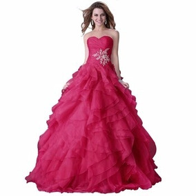 Vestido De Debutante Longo Pink - Tamanho 42-44