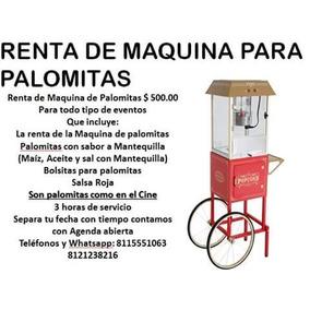 Renta De Maquina Para Palomitas