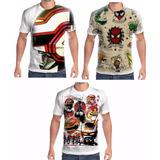 Kit Camisetas Personalizadas Jaspion E Homem Aranha Old
