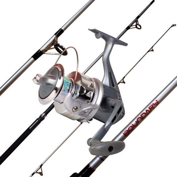 Combo Pesca Profesional Okuma Reel Ca?a 2.40 2 Tramos
