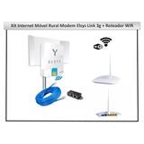 Kit Internet Rural Elsys Link 3g + Roteador Wifi + Antena Ex