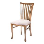 Cadeira De Jantar Grécia Assento Estofado E Madeira Maciça