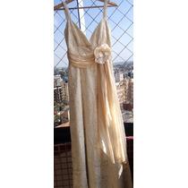 Vestido De Noiva Cor Champanhe Com Sandalia