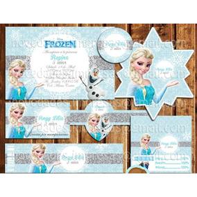 Kit Imprimible Elsa Frozen Mesa De Dulces Postres Candy Bar