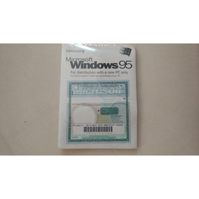 Windows 95 Cd Instalação Certificado Manual Lacrado Original