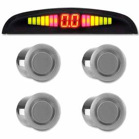 Sensor Estacionamento Ré 4 Sensores Display Led Sonoro Prata