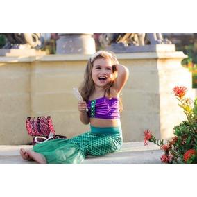 Disfraz Vestido Princesa Sirena Sirenita Ariel Envio Gratis!