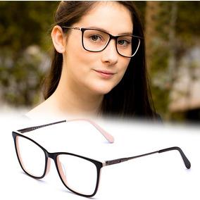 Armação Oculos Grau Feminino Pr15 Original Acetato Metal