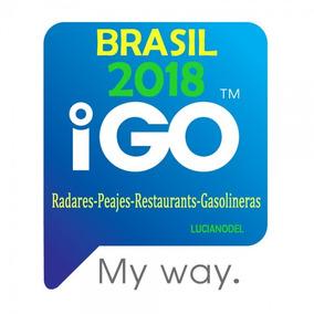 Mapa Brasil 2018 + Radares P/ Igo8 Igo Primo Gps G.drive