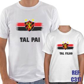 Kit 2 Camisas Tal Pai Tal Filho Sport Recife Futebol Esporte