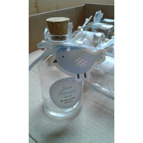 Botellita Para Agua Bendita De Cristal, Recuerdos Bautizo