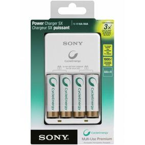 Cargador Sony Bcg34hh4kn Incluye 4 Pilas 2100 Premium Aa