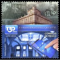 2014 130 Años Del Banco Nacional De México Sello Nuevo Tren