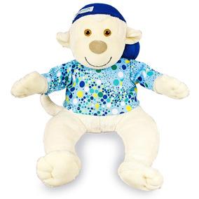 Pelúcia Macaco Tico Azul - Anjos Baby