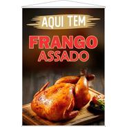 Banner Frango Assado - Tamanho 63x90cm