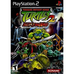 Jogo Ps2 Tartarugas Ninjas Turtles 2 + Frete Grátis.
