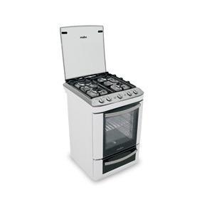 Cocina 56 Cm De Ancho, Metálica 4 Hornallas Mabe Blanca