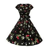 Vestido Retro De Rockabilly De Los Años 50 De La Vendi W1