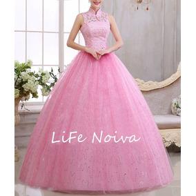 Vestido Rosa Debutante 15 Anos Lindo Pronta Entrega