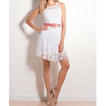 Vestido Branco De Renda - Casamento Civil Reveillon Promoção