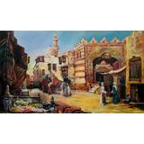 Quadro- Vendedores-cena Árabe-ost-69x120cm Ass:l.salustriany