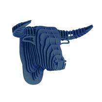 Toro Azul Cabeza Decorativa Animal Decoracion Valchromat8m