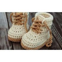 Zapatillas, Botitas Tejida Al Crochet