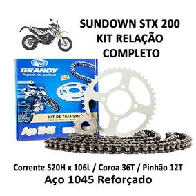 Kit Relação Completo Brandy Sundown Stx 200 Motoard