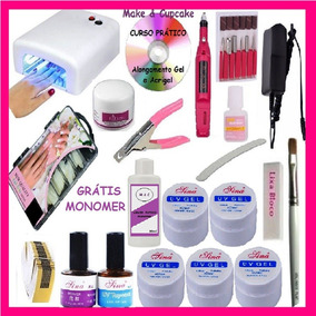 Kit Unha Gel Acrigel Dvd + Aposlila + Kit Gel+ Cabine + Lixa