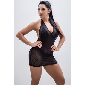 Mini Micro Vestido Saída Praia Piscina Arrastão Sensual Sexy