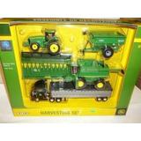 Kit Miniatura John Deere 1/64 Trator 9760sts Carreta Platafo