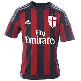 Playera Futbol Soccer Milan Local 15/16 Niño adidas S11834