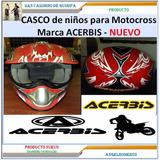 Casco Para Niños De Moto Cross Fibra De Carbono Acerbis