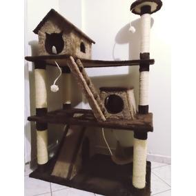Arranhador Gigante De Luxo Para Gatos Com Casinha