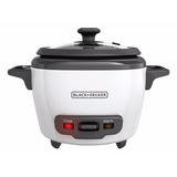 Olla Arrocera Black And Decker Rc503 Seco/3-cup Cooked, Blan