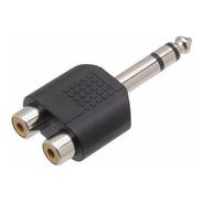 2 Plugs Adaptadores, P10 Macho Stereo X 2 Rca Fêmea