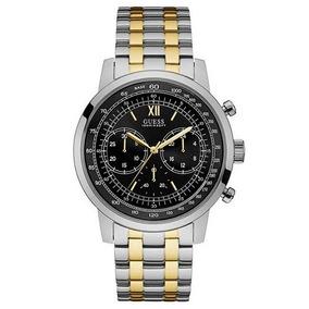 Relógio Guess Masculino Aço Prateado E Dourado W0915g U5216